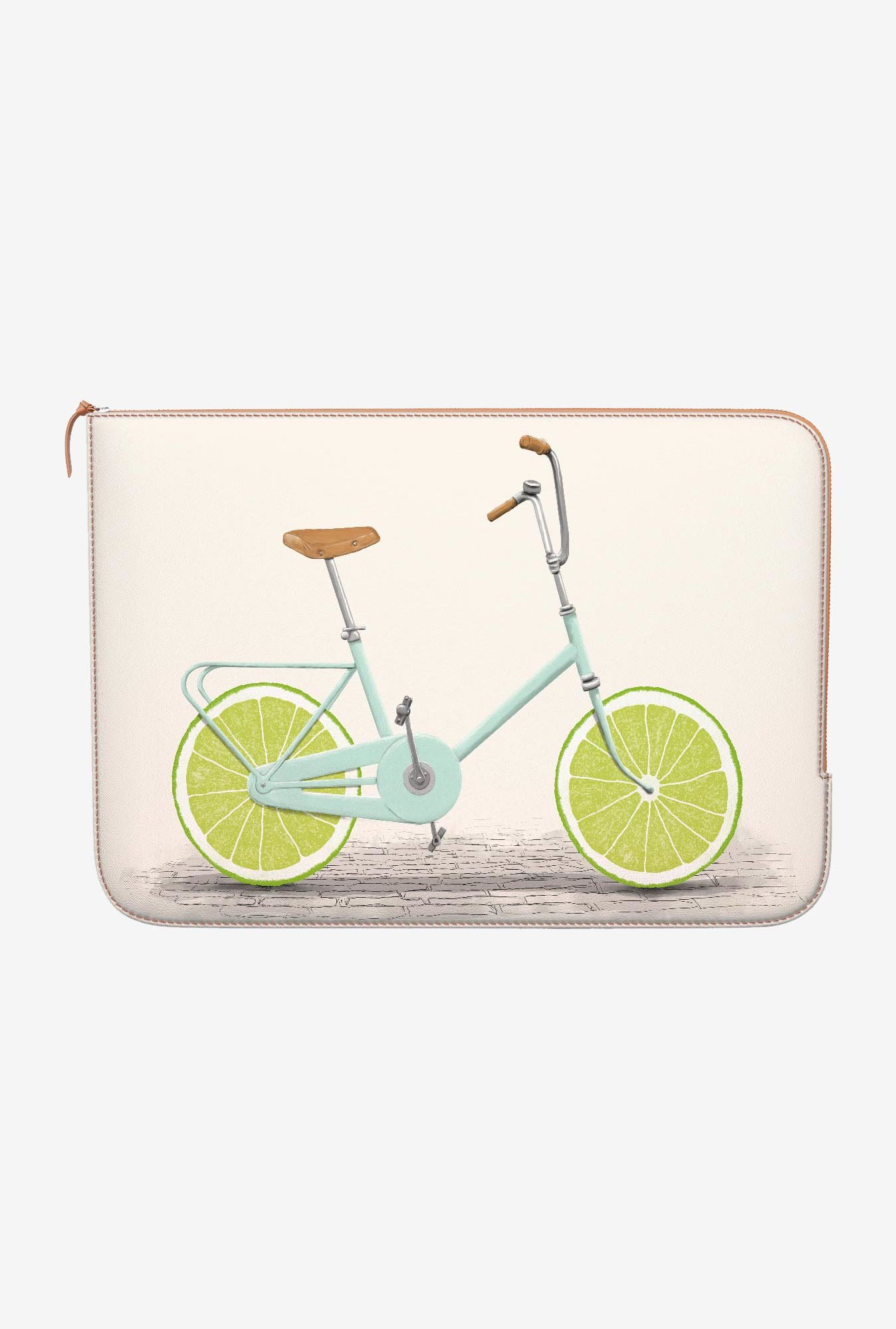 DailyObjects Lime Wheels MacBook Pro 15 Zippered Sleeve