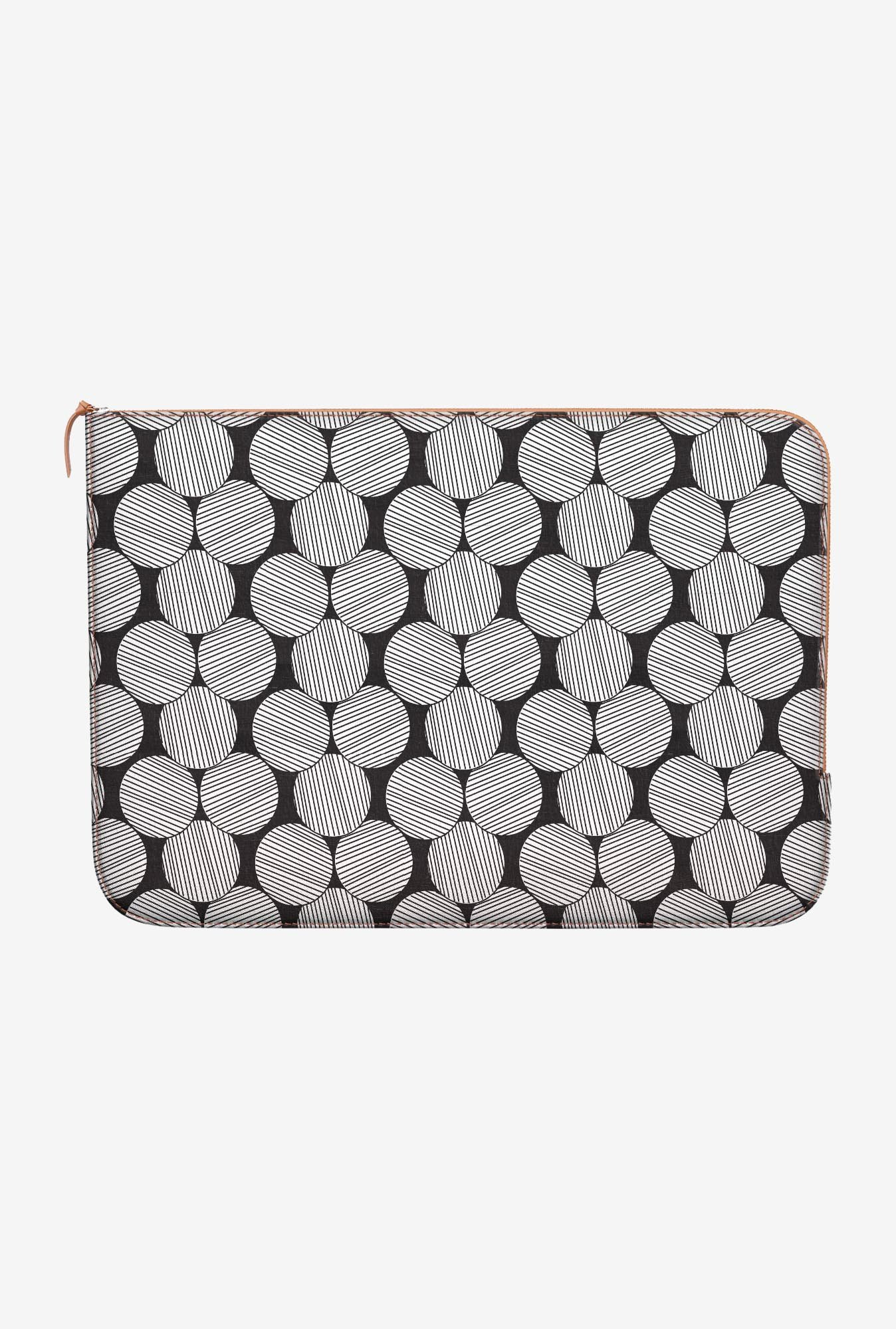 DailyObjects Lined Circles MacBook 12 Zippered Sleeve