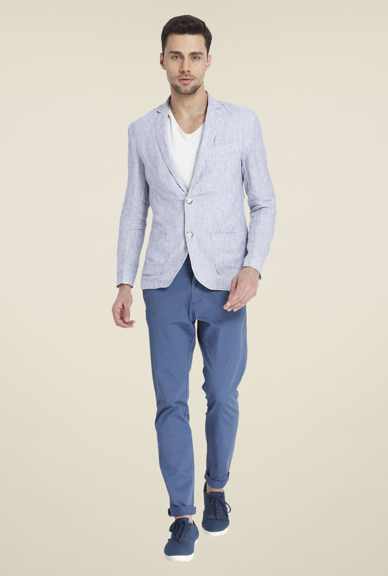 Jack & Jones Light Grey Linen Blazer