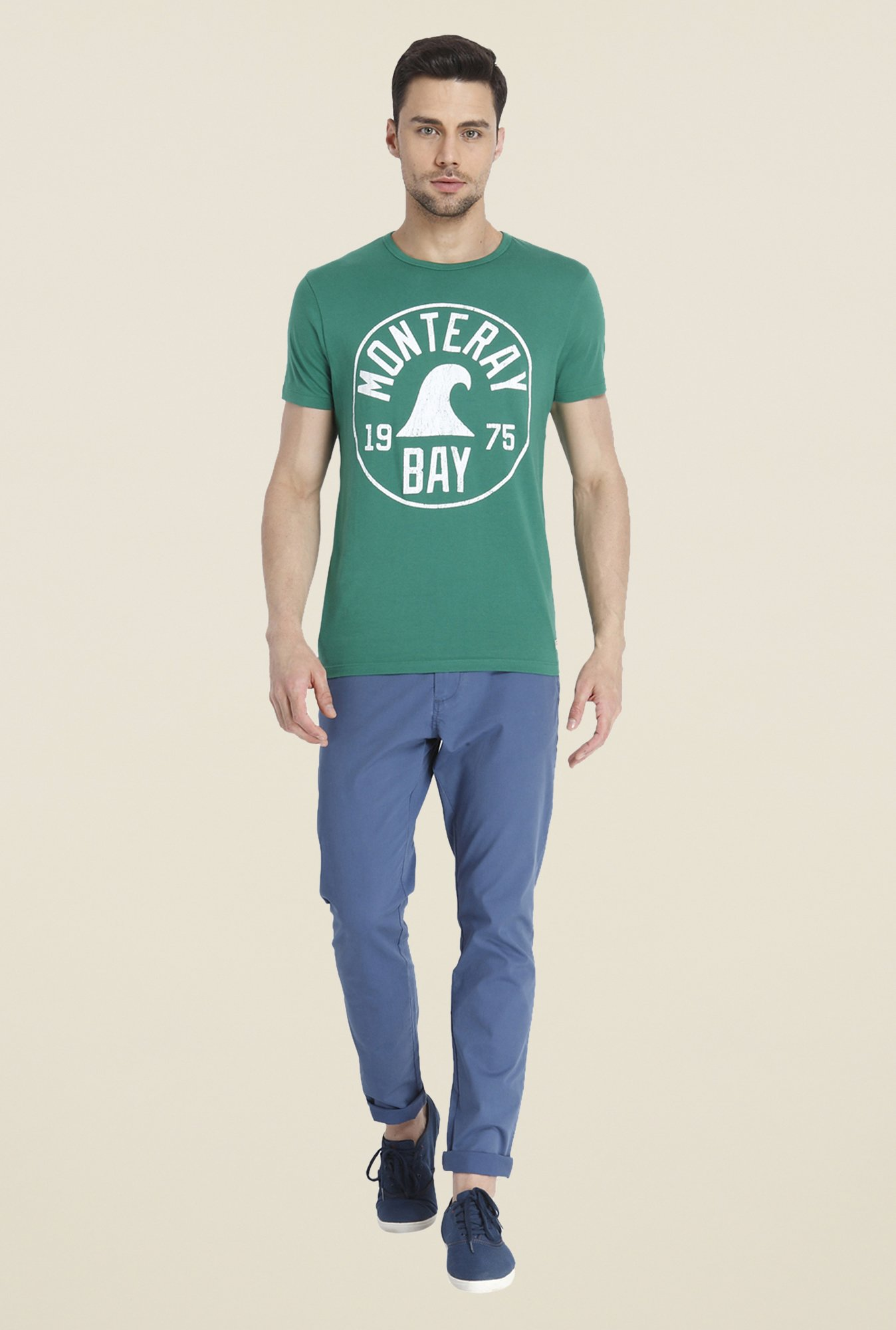 Jack & Jones Sea Green Graphic Print T Shirt