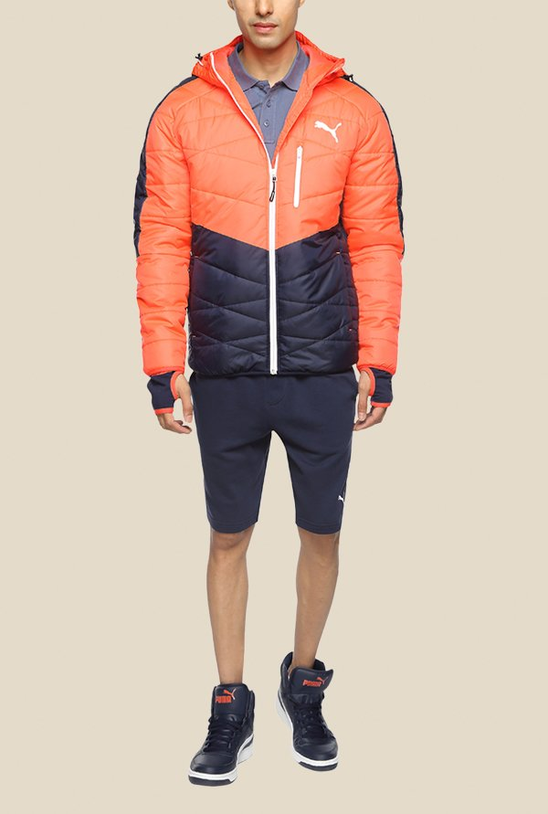 Puma ACTIVE Norway Orange & Navy Hoodie