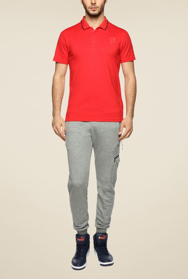 Puma Ferrari Red Polo T Shirt