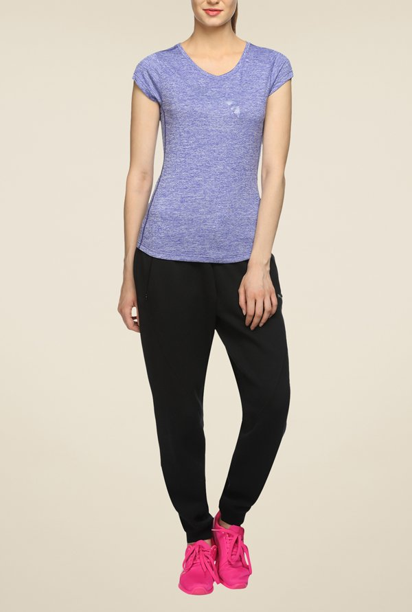 Puma Heather Cat Blue Textured T Shirt