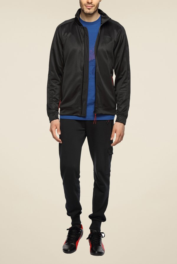 Puma Ferrari Black Solid Jacket