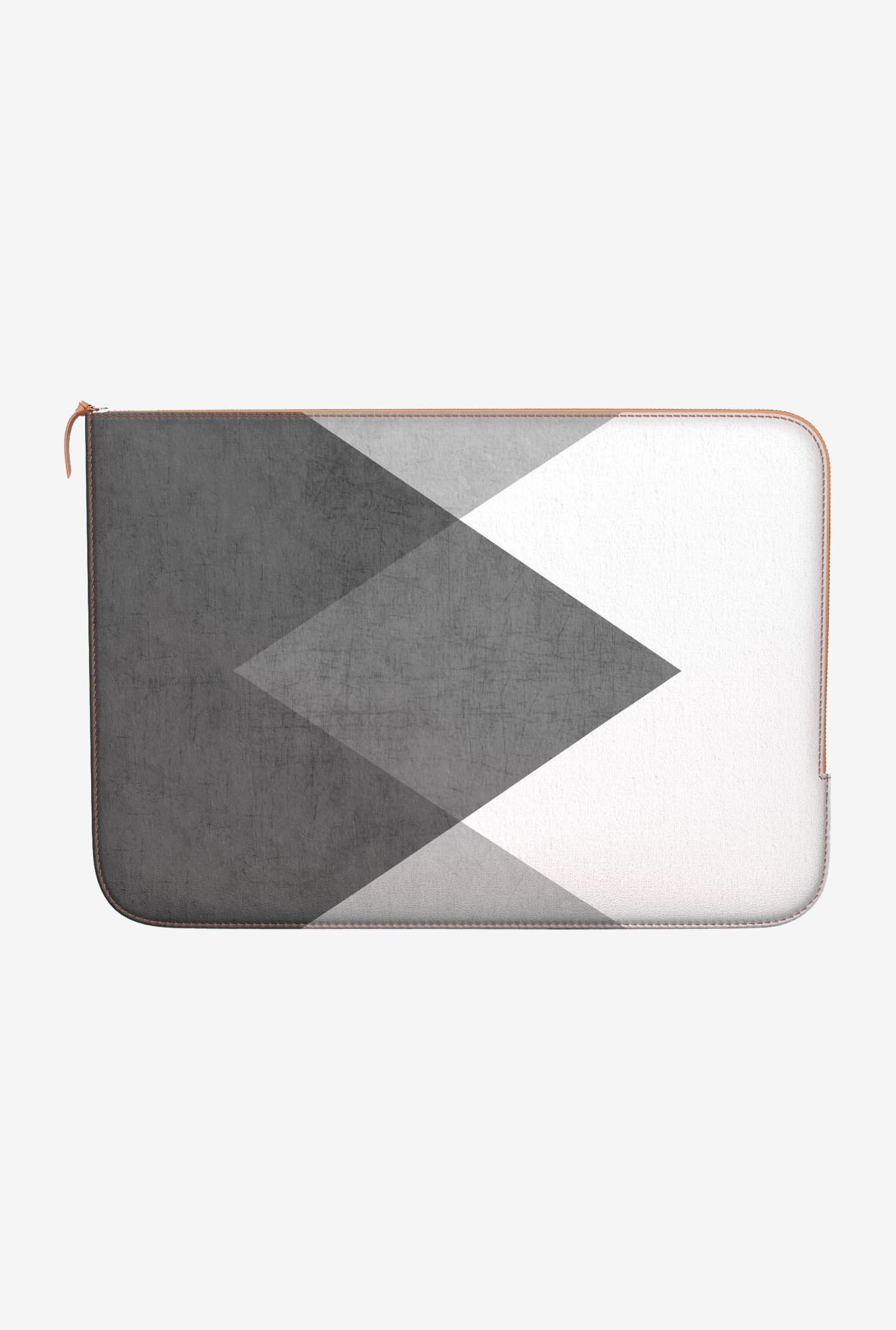 DailyObjects Triangle MacBook Pro 15 Leather Zippered Sleeve