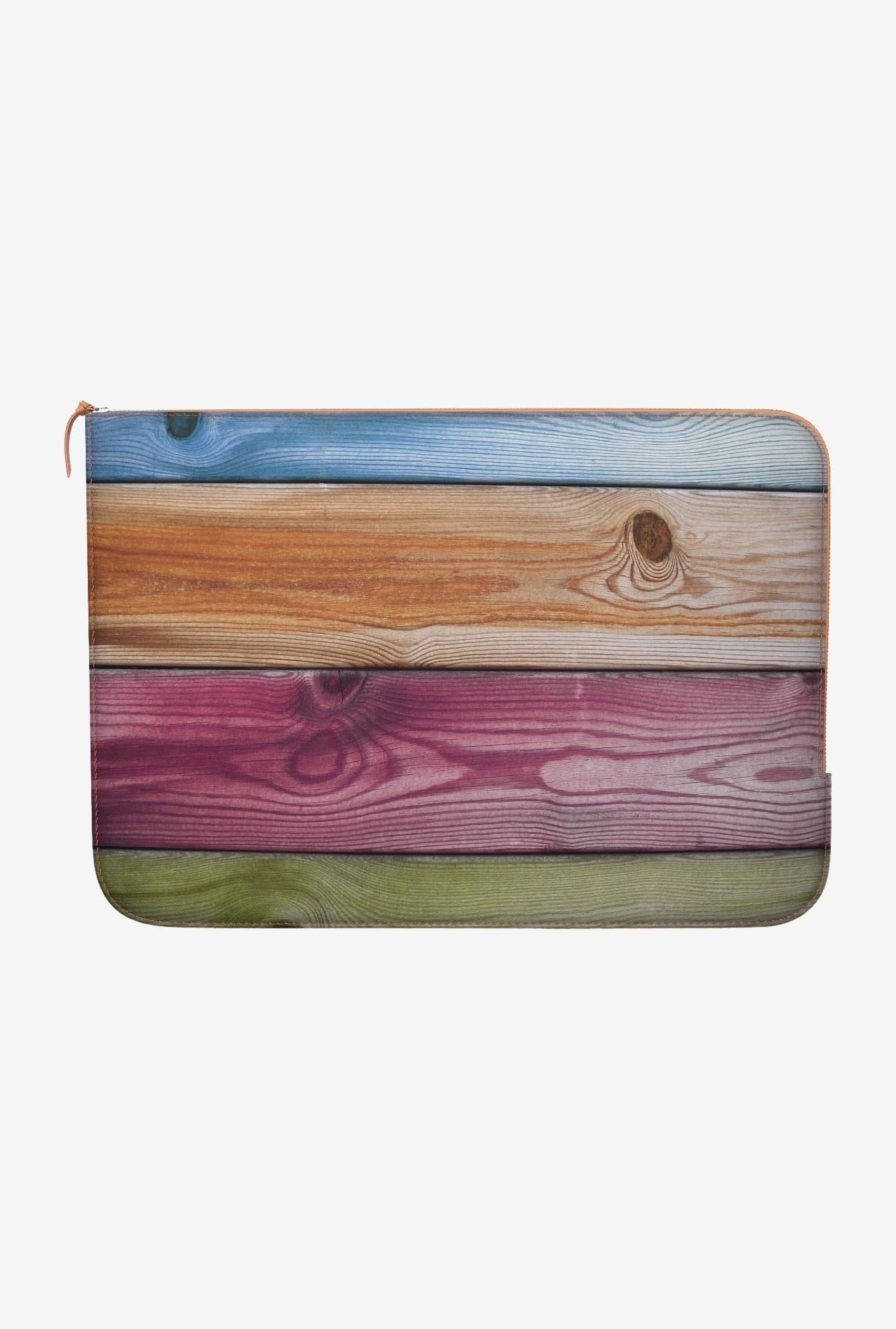 DailyObjects Wooden Rainbow MacBook Pro 15 Zippered Sleeve