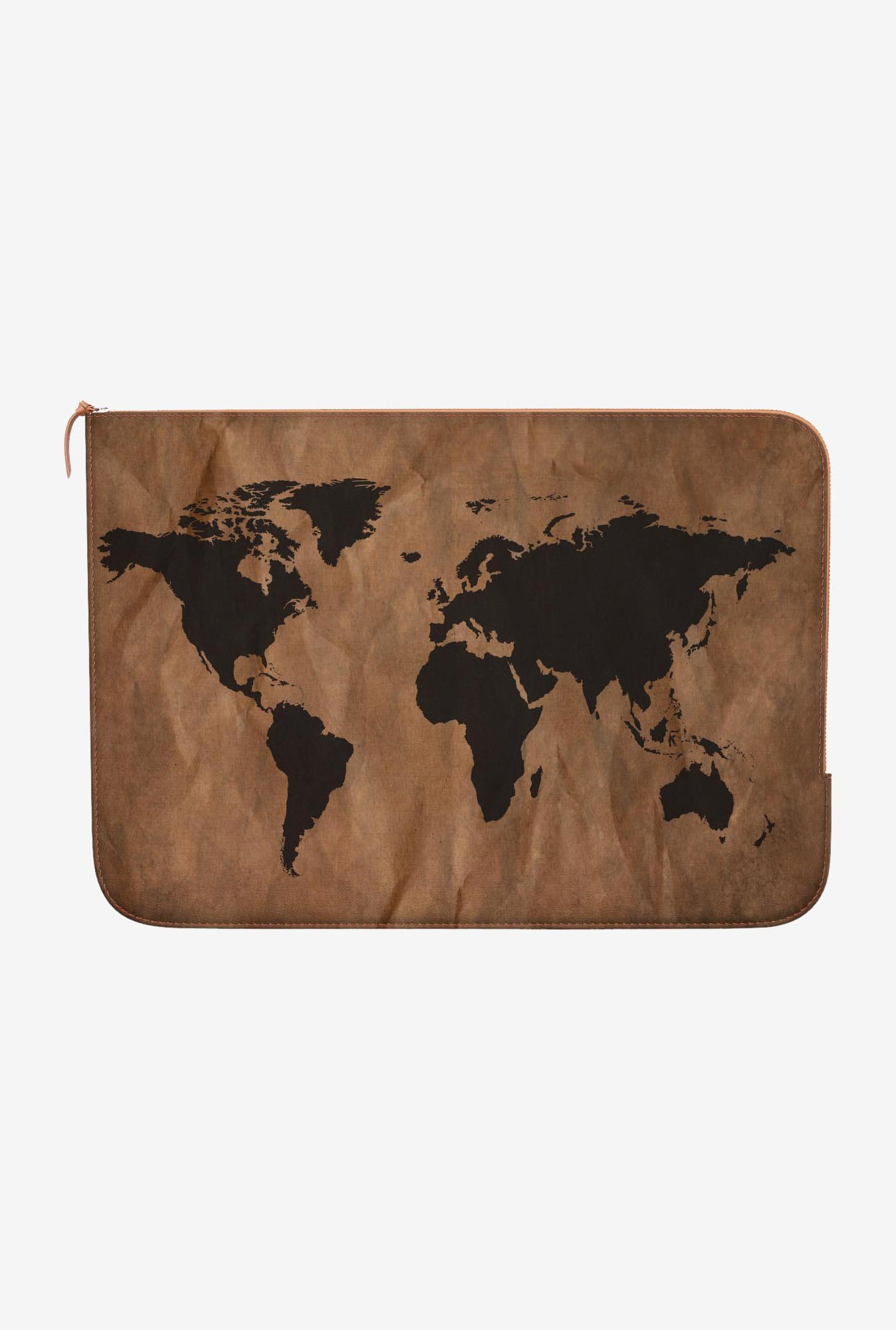 DailyObjects World Map MacBook Pro 15 Zippered Sleeve