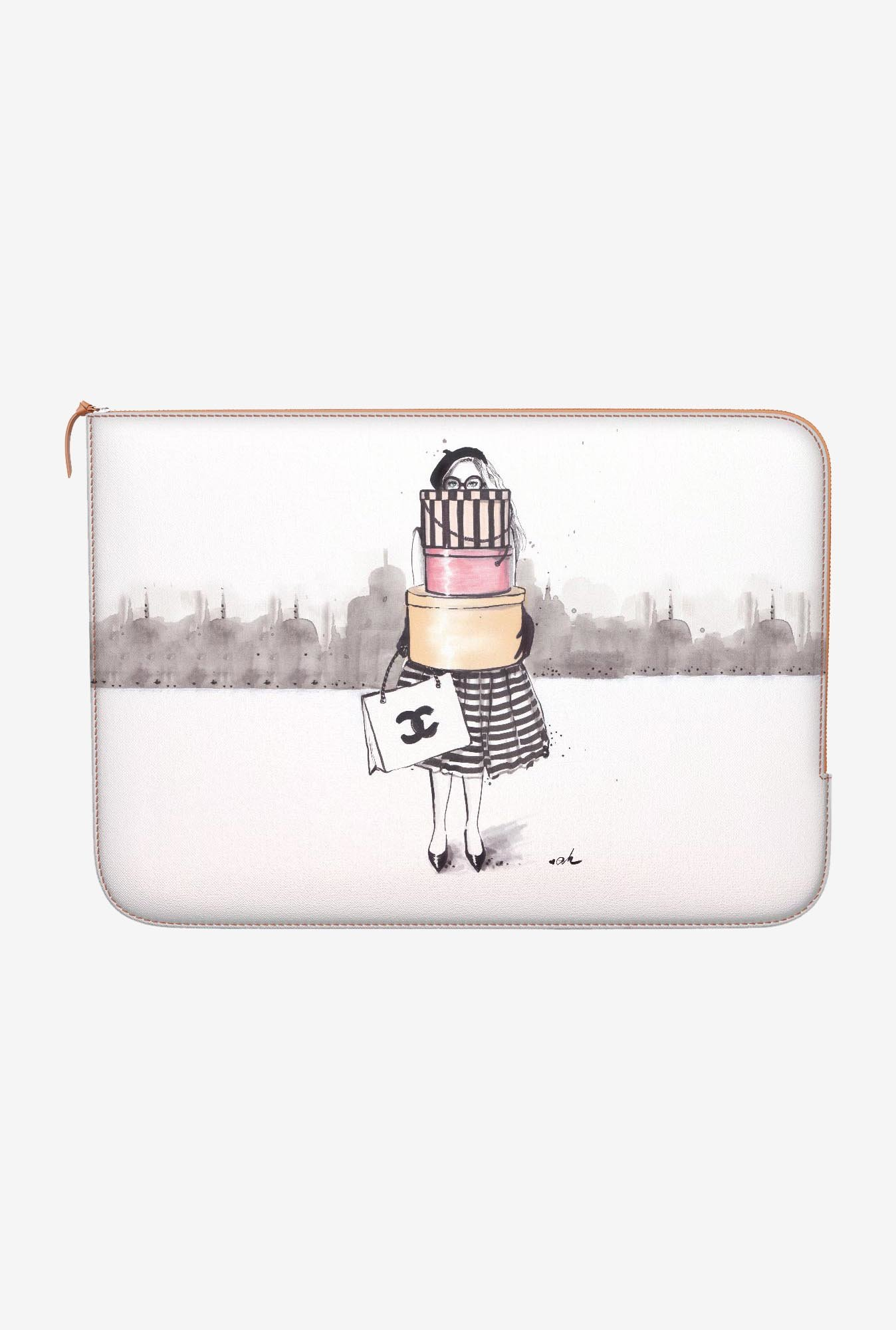DailyObjects Shopping Junkie MacBook Pro 15 Zippered Sleeve