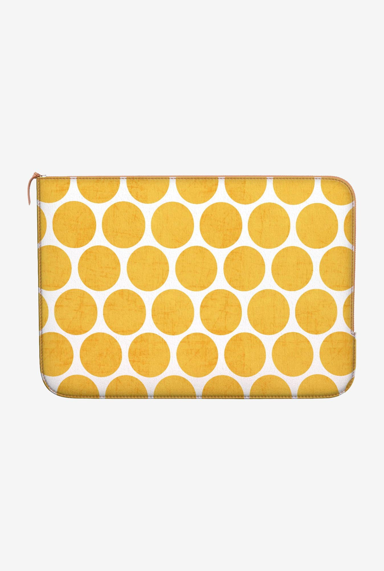 DailyObjects Yellow Dots MacBook Pro 15 Zippered Sleeve