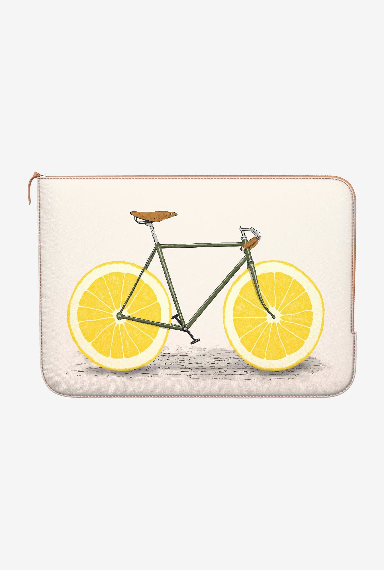 DailyObjects Yellow Wheels MacBook 12 Zippered Sleeve