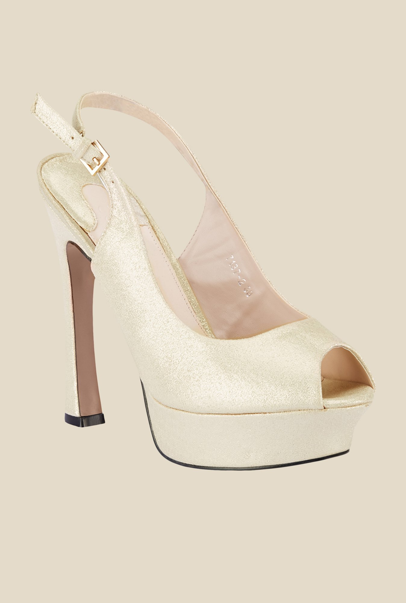 Tresmode Yedan Golden Back Strap Stilettos