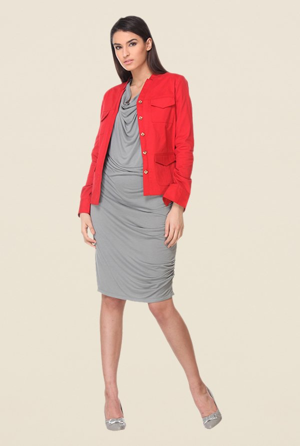 Kaaryah Red Solid Jacket