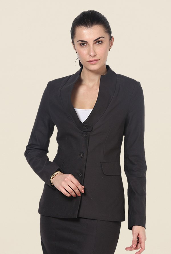Kaaryah Black Solid Jacket