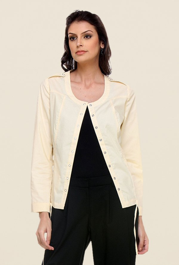 Kaaryah Yellow Solid Jacket