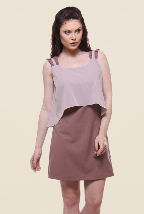 Kaaryah Blush Pink Solid Dress