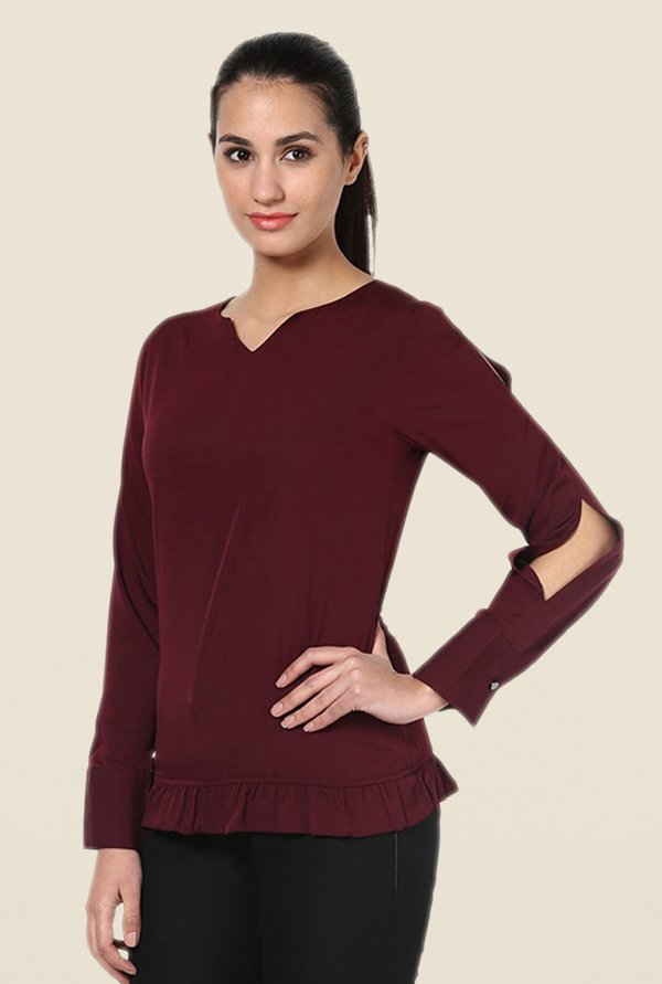 Kaaryah Wine Solid Top