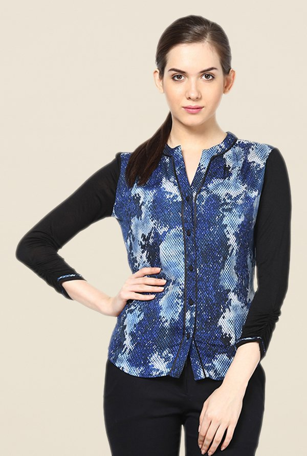 Kaaryah Blue Printed Top