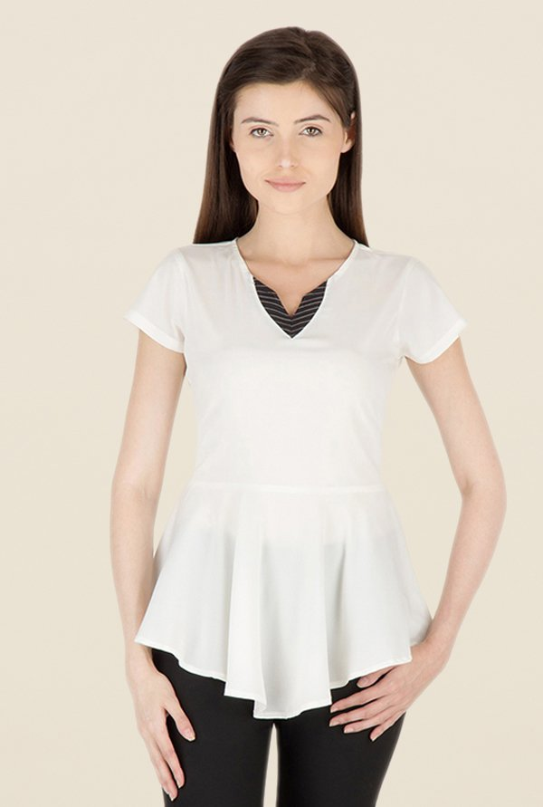 Kaaryah White Solid Top