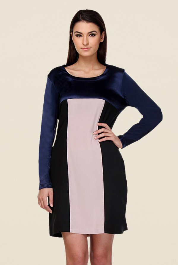 Kaaryah Multicolor Solid Relaxed Fit Dress