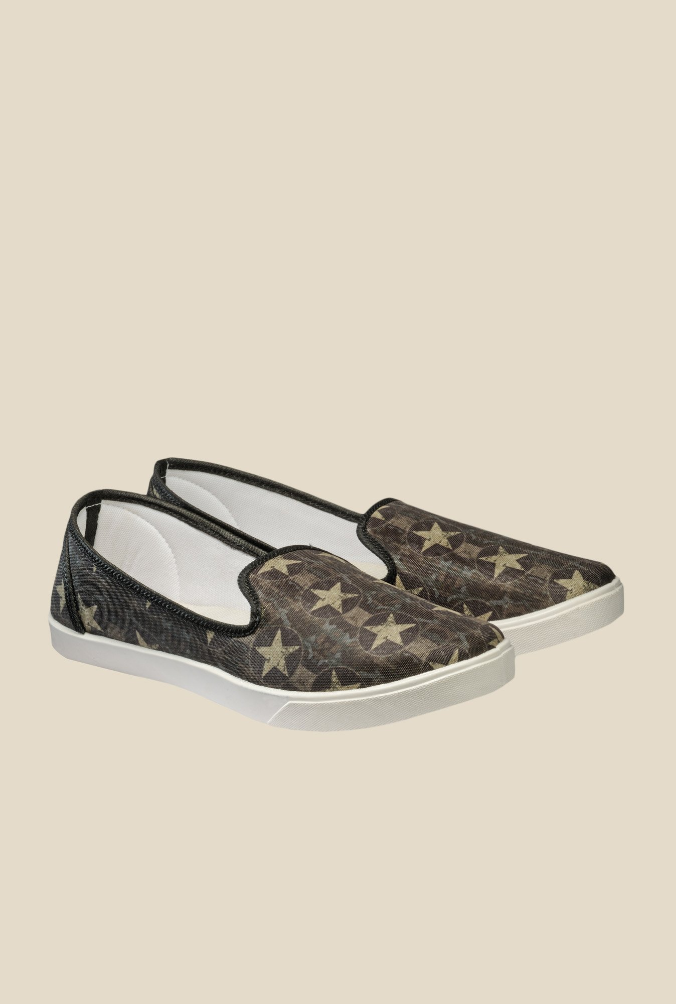 Juan David Olive Green Plimsolls
