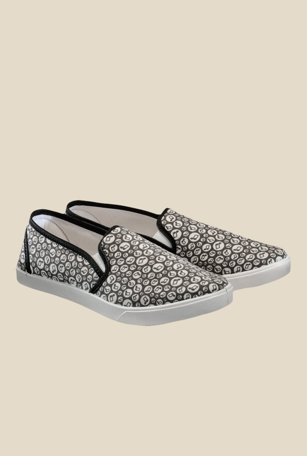 Juan David Grey & White Plimsolls