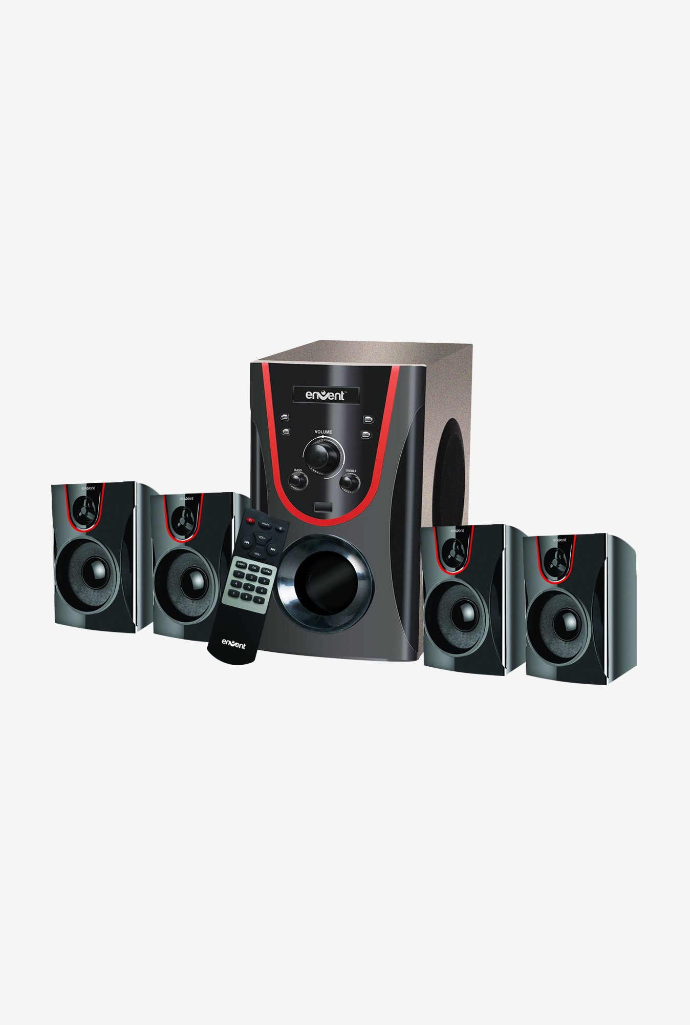 Envent High 5BT Multimedia 5.1 Speaker with Bluetooth(Black)