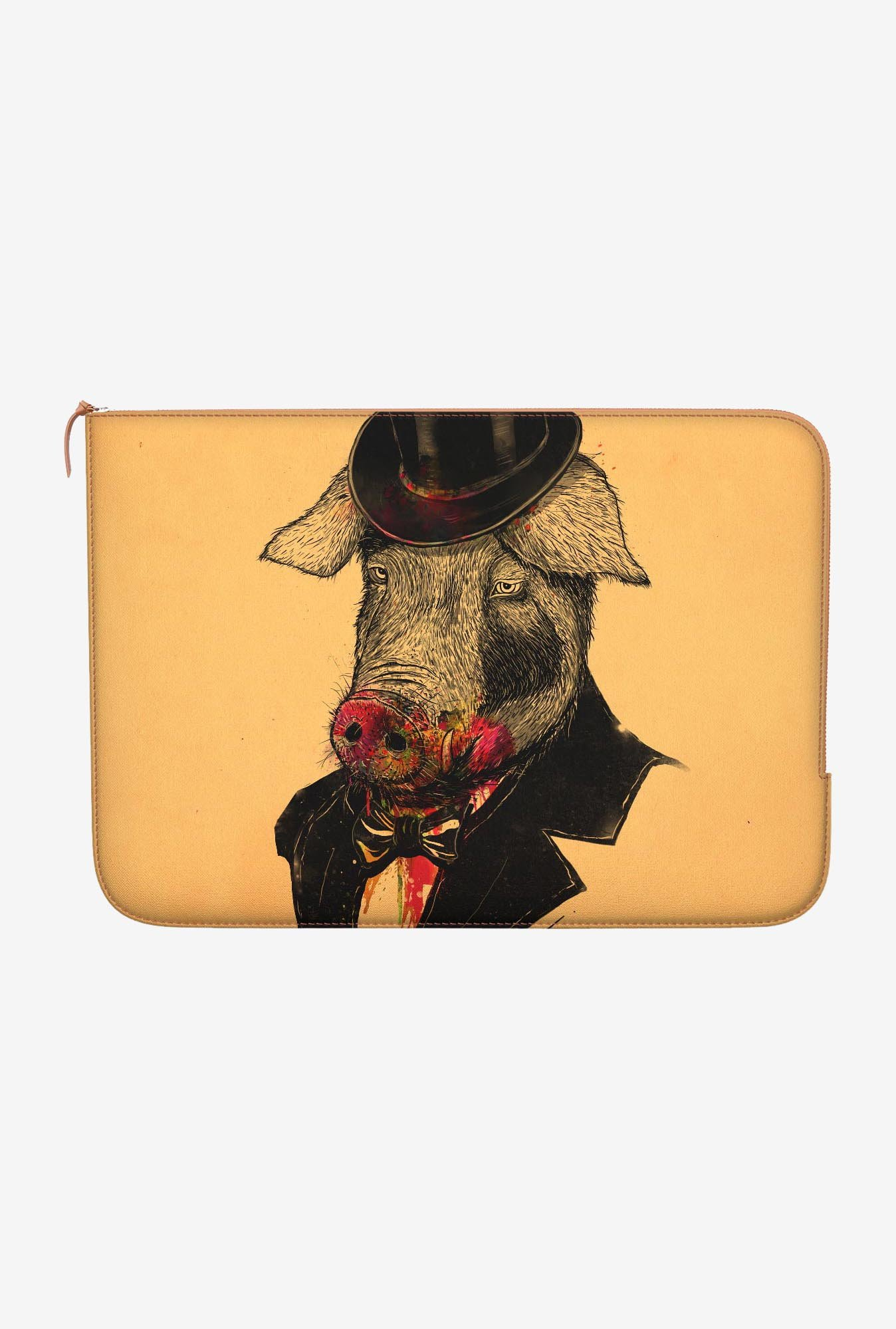 "DailyObjects Mr Pig Macbook Pro 15"" Zippered Sleeve"