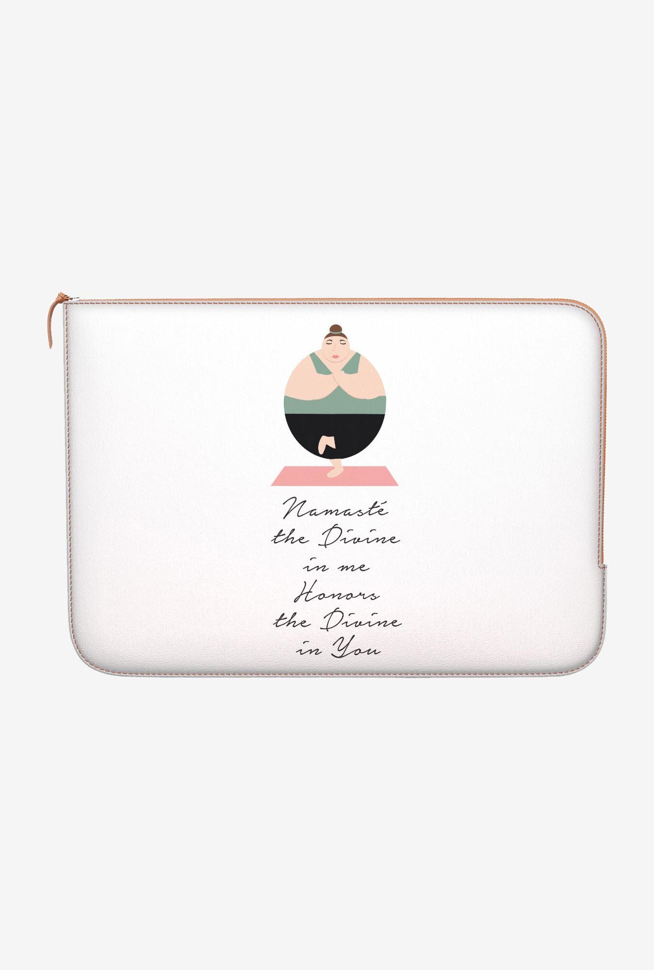 "DailyObjects Namaste Quote Macbook 12"" Zippered Sleeve"