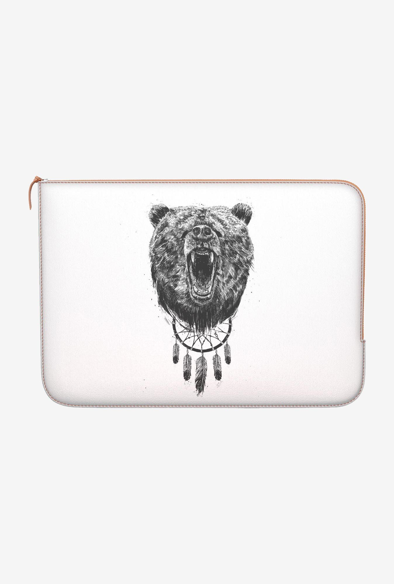"DailyObjects Not Wake Bear Macbook 12"" Zippered Sleeve"