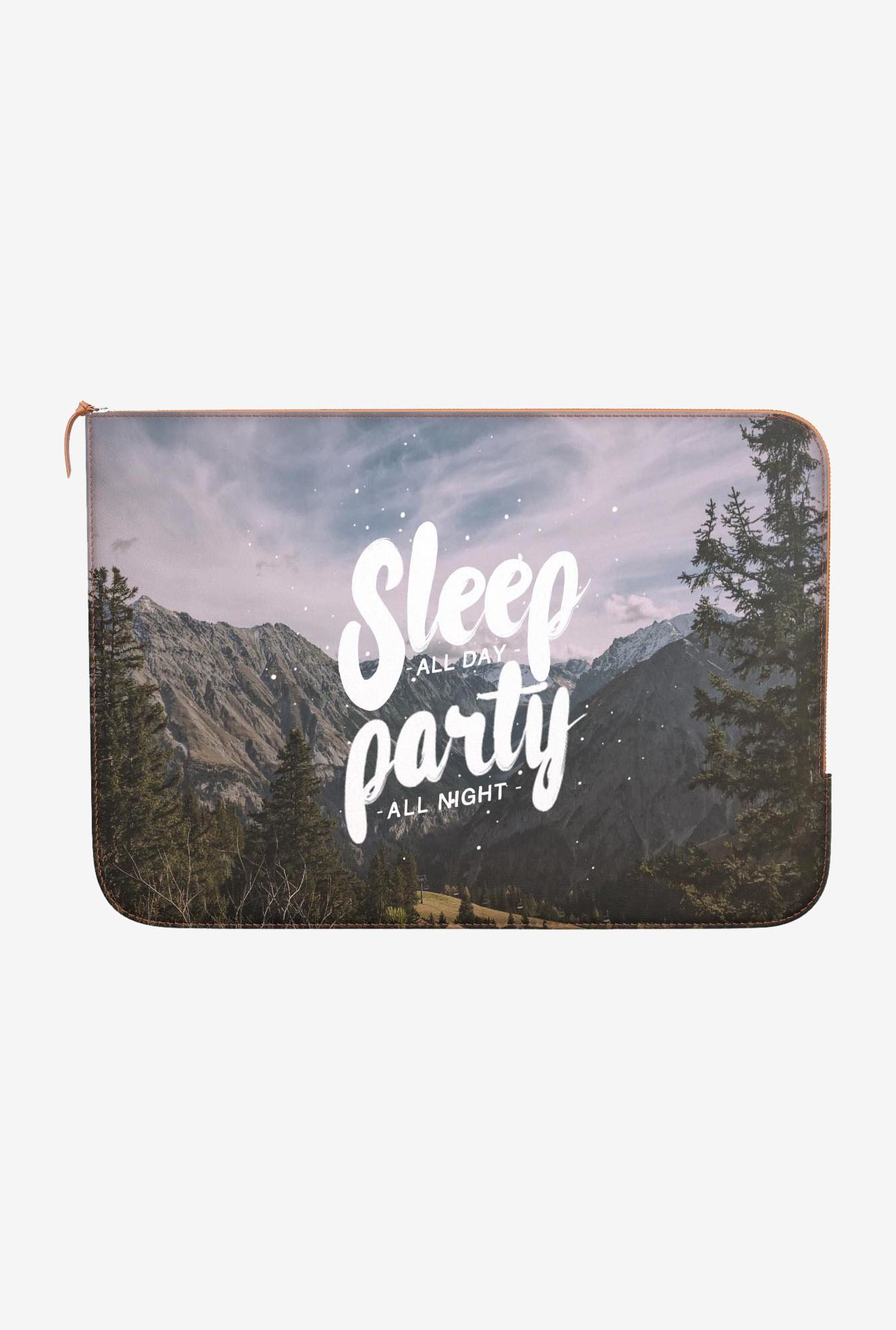 "DailyObjects Party All Night Macbook 12"" Zippered Sleeve"