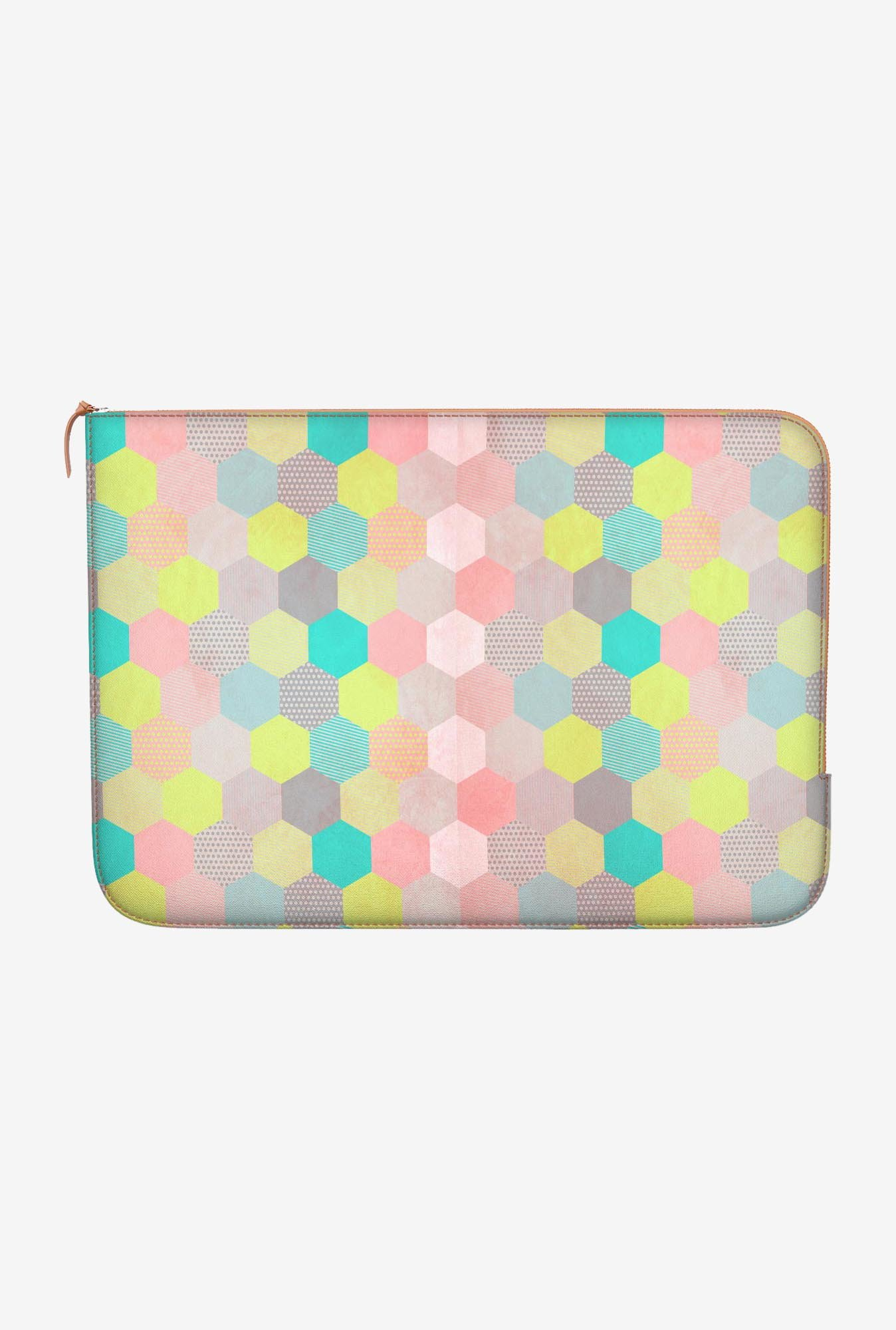 "DailyObjects Pastel Hexagon Macbook Air 13"" Zippered Sleeve"