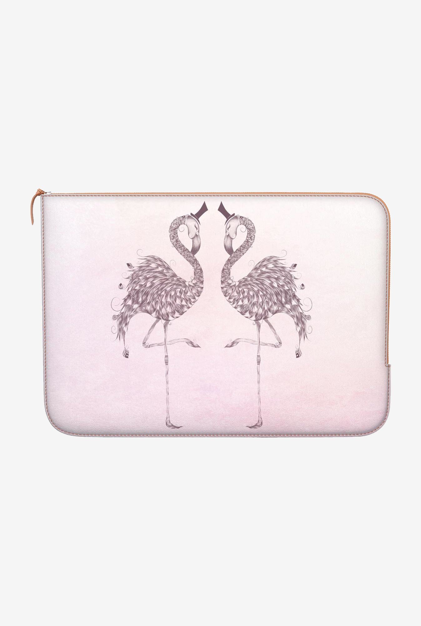 "DailyObjects Poetic Flamingo Macbook Air 13"" Zippered Sleeve"