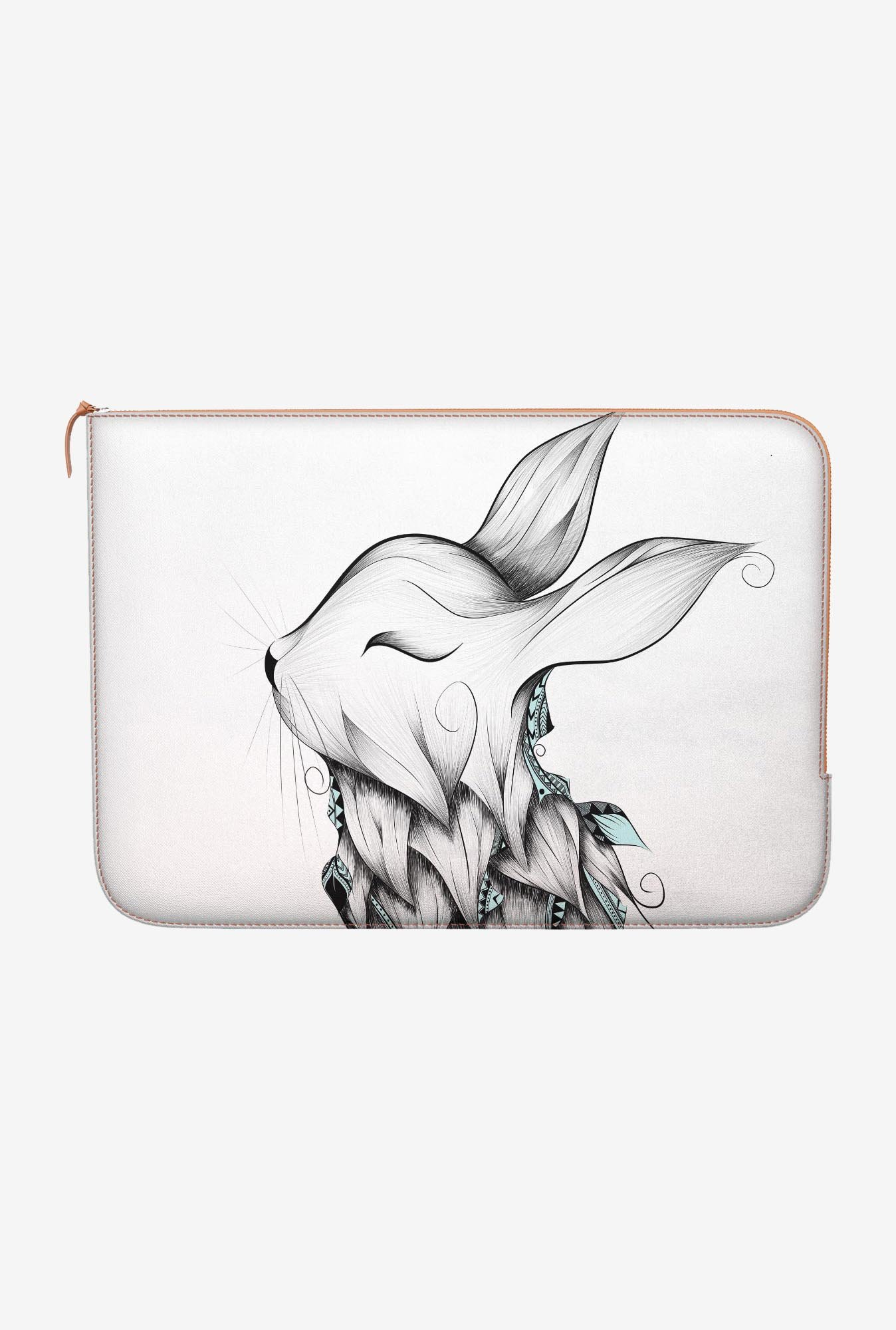 "DailyObjects Poetic Rabbit Macbook Air 11"" Zippered Sleeve"