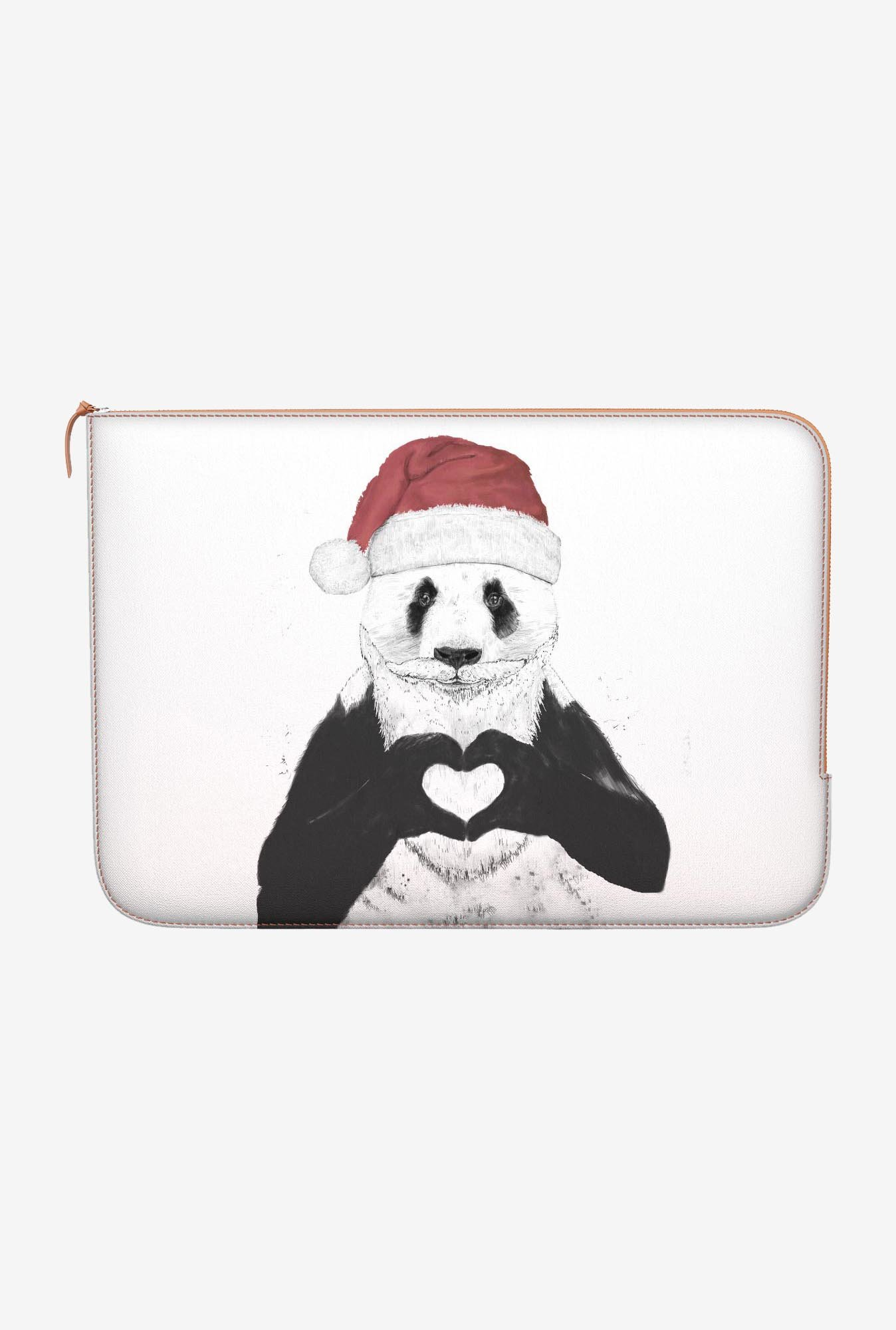 "DailyObjects Santa Panda Macbook Pro 15"" Zippered Sleeve"