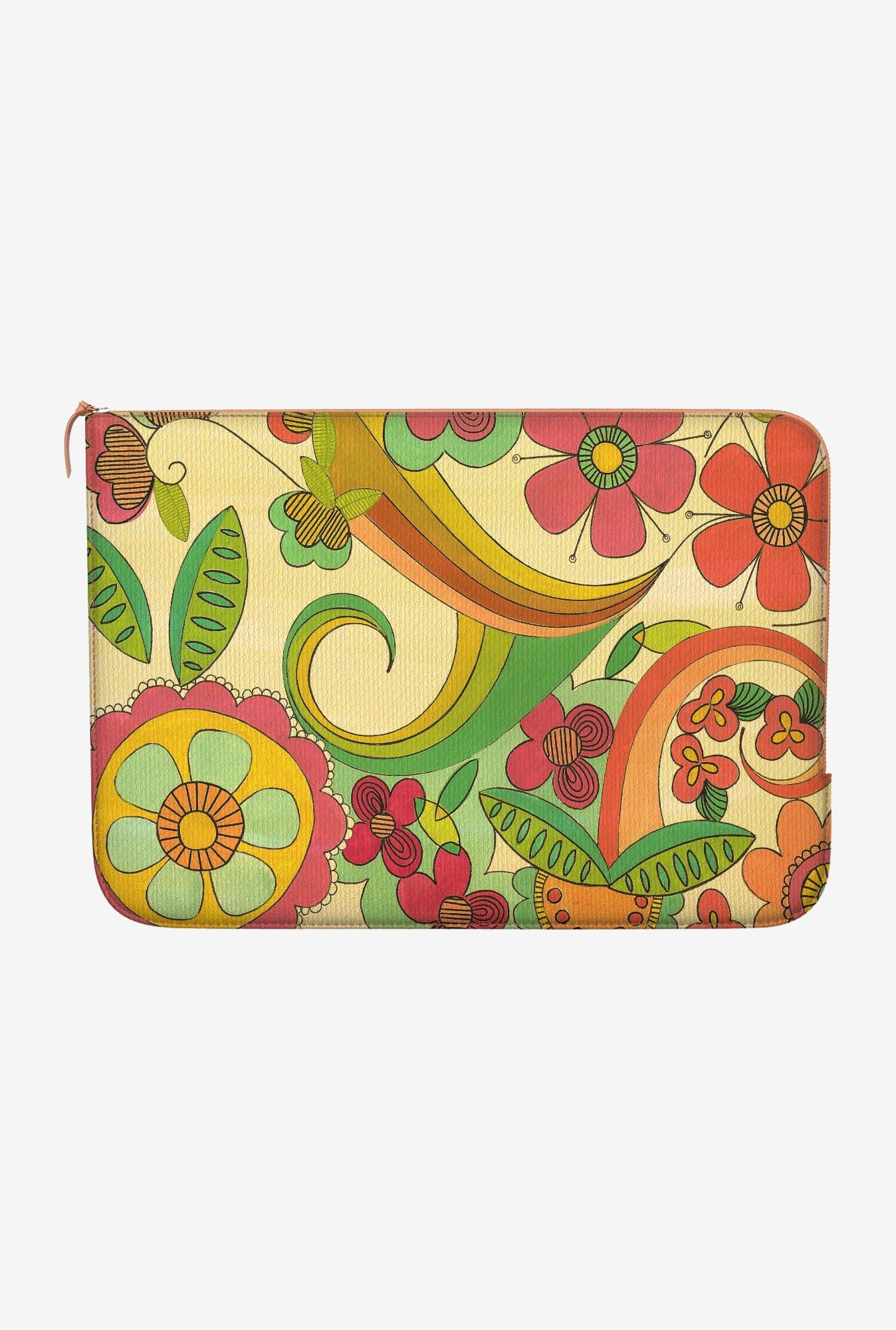 "DailyObjects Magic Floral Macbook Pro 13"" Zippered Sleeve"