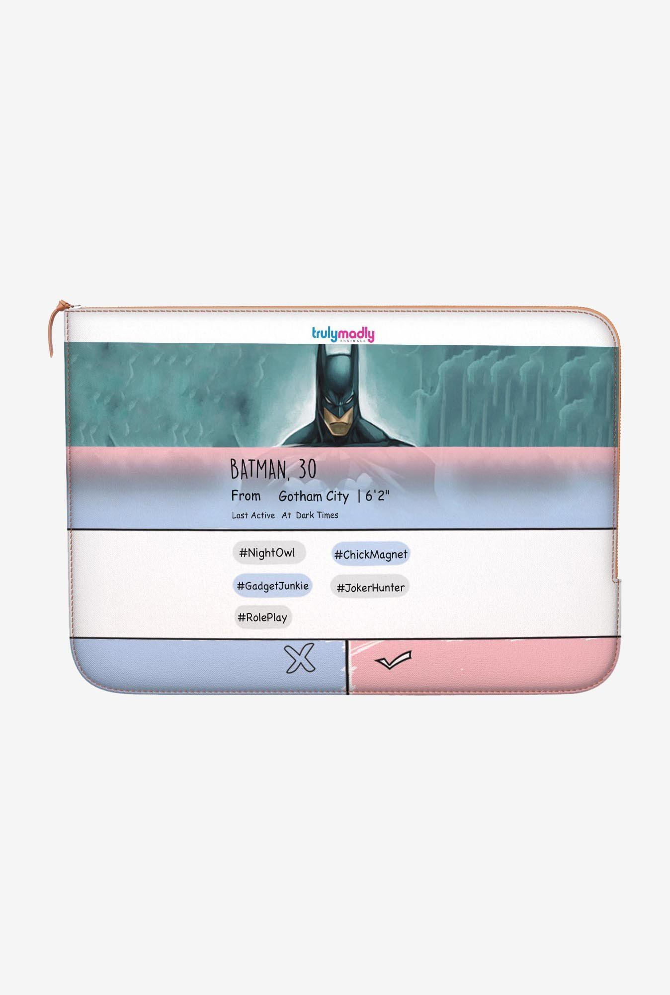 "DailyObjects Swipe Batman Macbook Pro 15"" Zippered Sleeve"