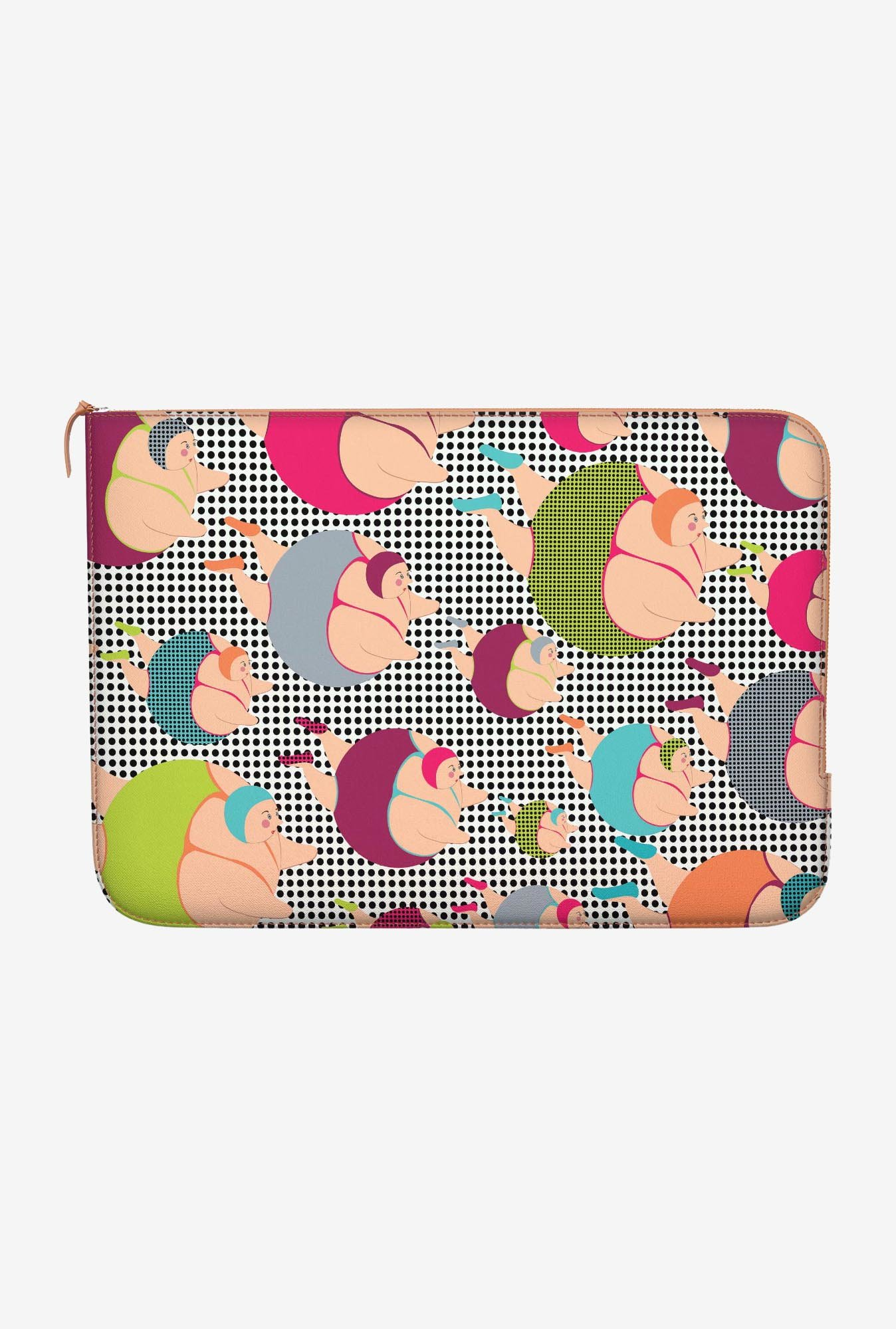 "DailyObjects Spotty Swimmers Macbook 12"" Zippered Sleeve"