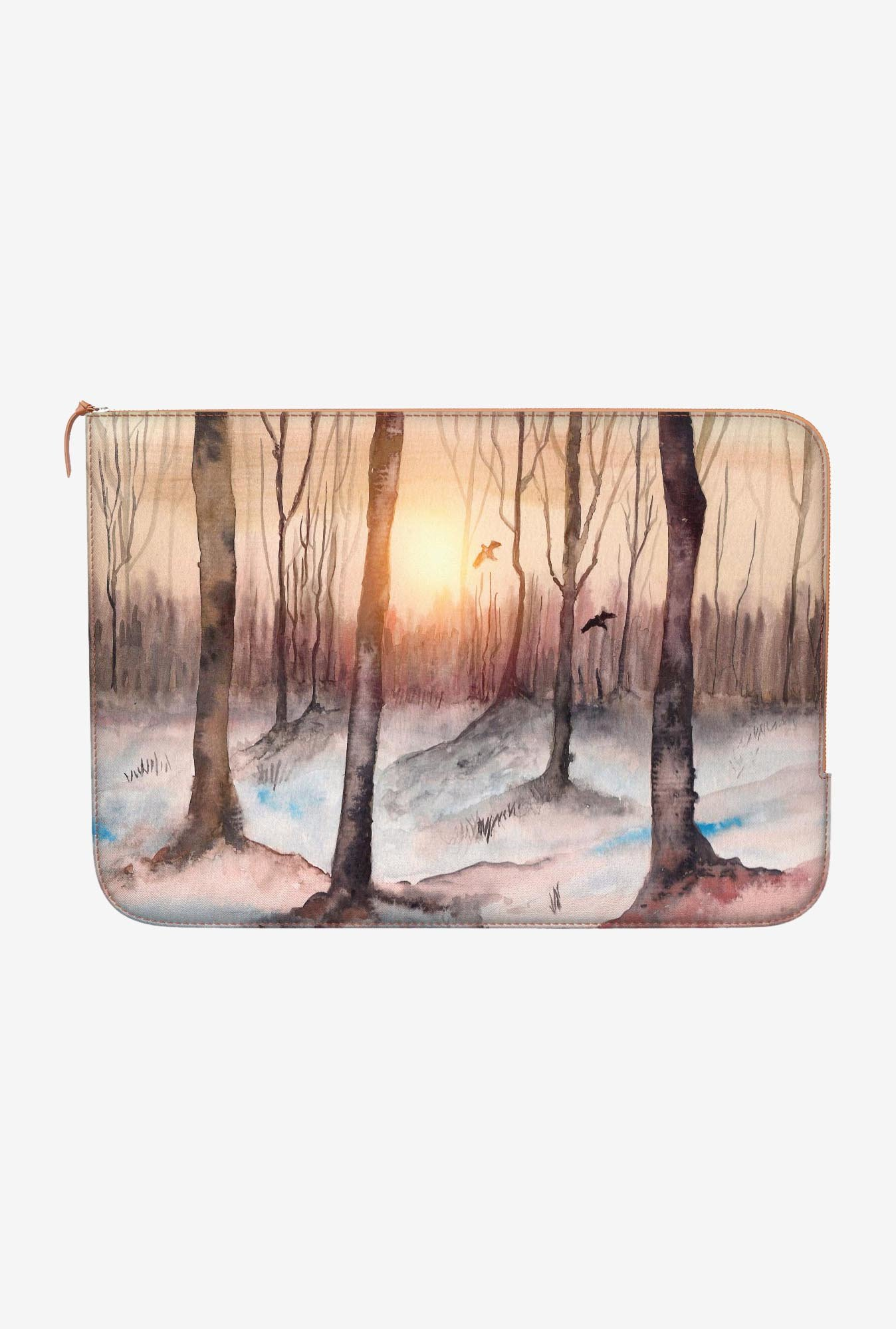 "DailyObjects Sunrise In Woods Macbook 12"" Zippered Sleeve"