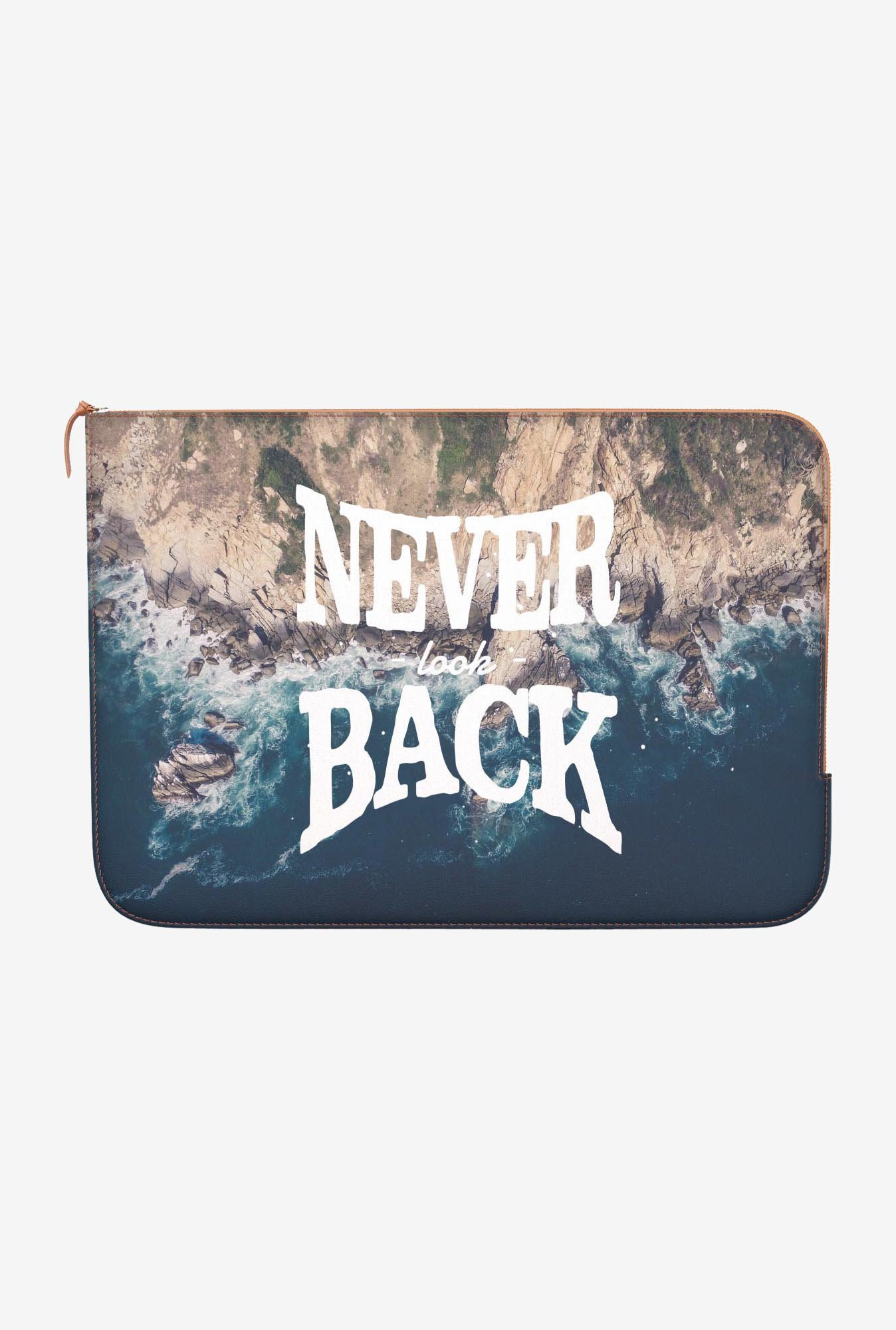 "DailyObjects Never Look Back Macbook 12"" Zippered Sleeve"