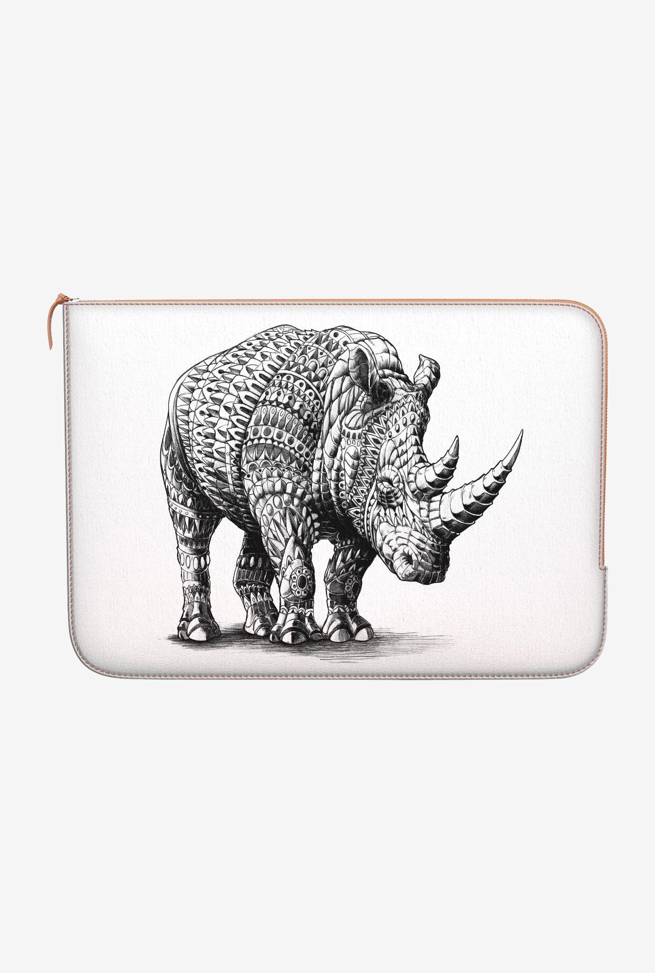 "DailyObjects Rhinoceros Macbook Pro 13"" Zippered Sleeve"