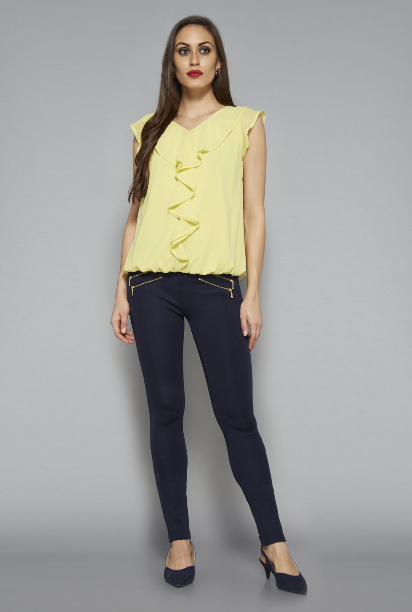 Wardrobe by Westside Yellow Lola Top