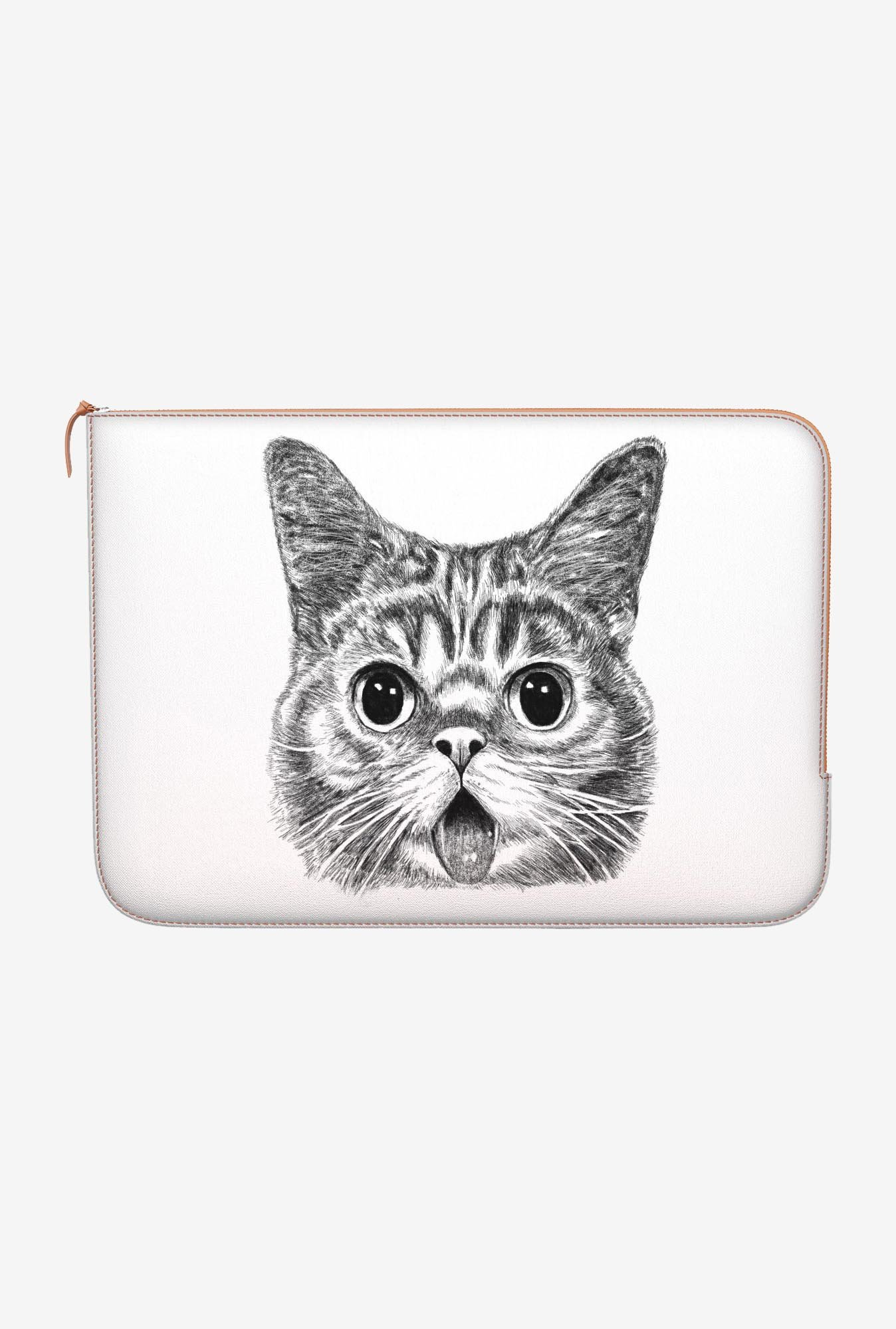 "DailyObjects Shocked Cat Macbook Pro 15"" Zippered Sleeve"