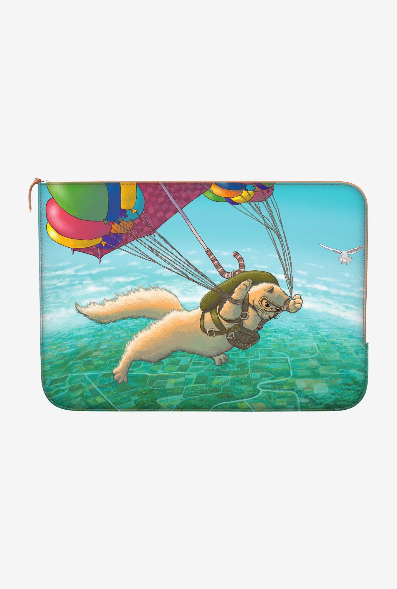 "DailyObjects Skydiving Feline Macbook 12"" Zippered Sleeve"