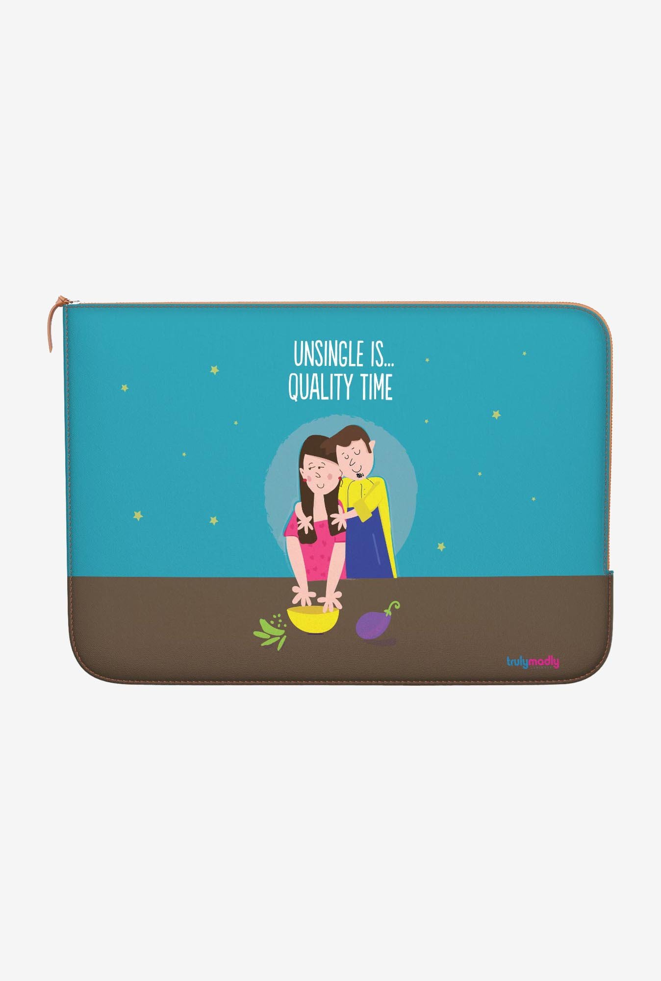 "DailyObjects Quality Time Macbook Pro 15"" Zippered Sleeve"