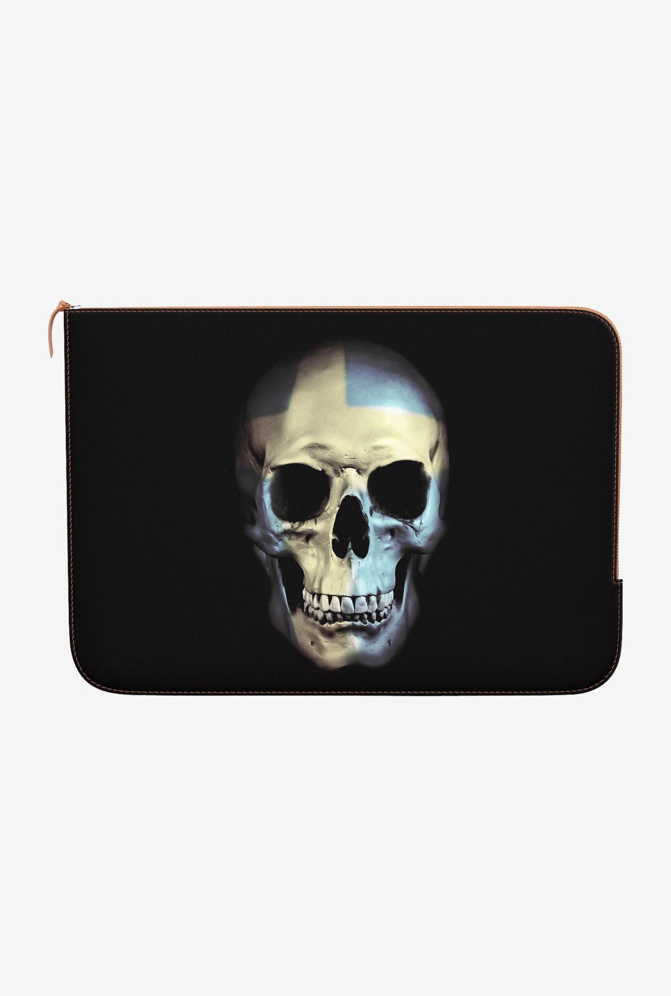 "DailyObjects Swedish Skull Macbook Pro 15"" Zippered Sleeve"