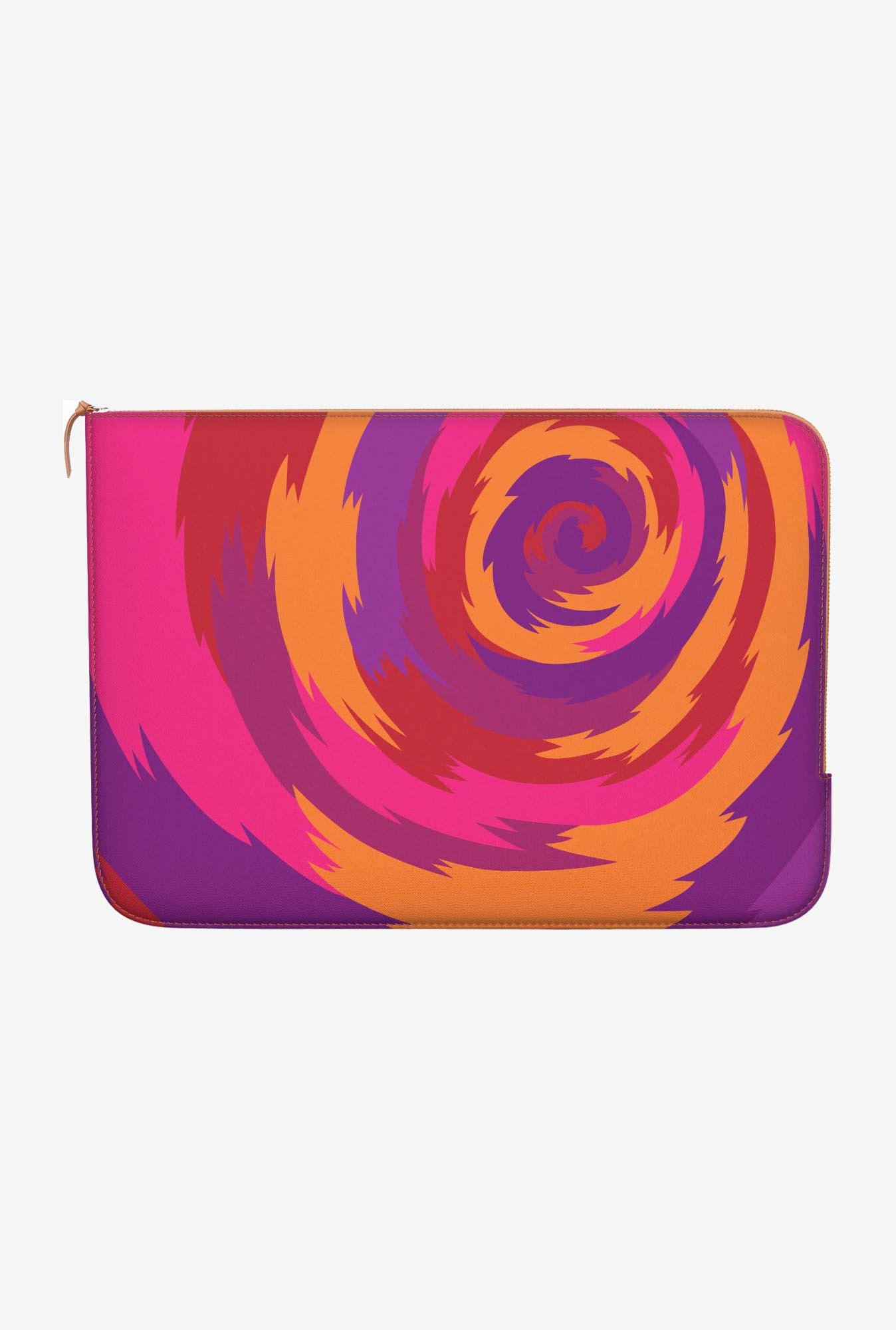 "DailyObjects Purple Swirl Macbook 12"" Zippered Sleeve"