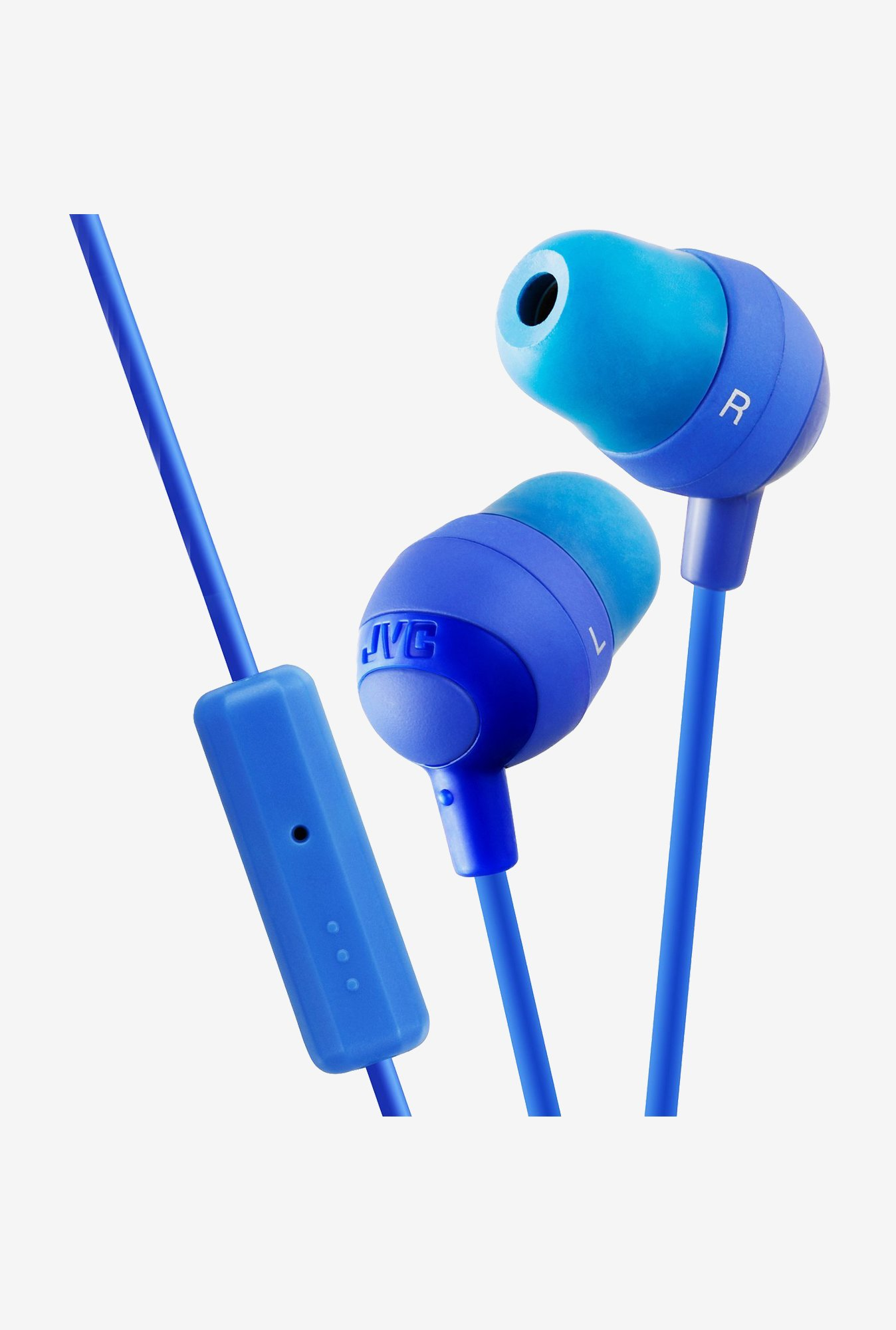 JVC Marshmallow HA-FR37 In The Ear Headphones (Blue)