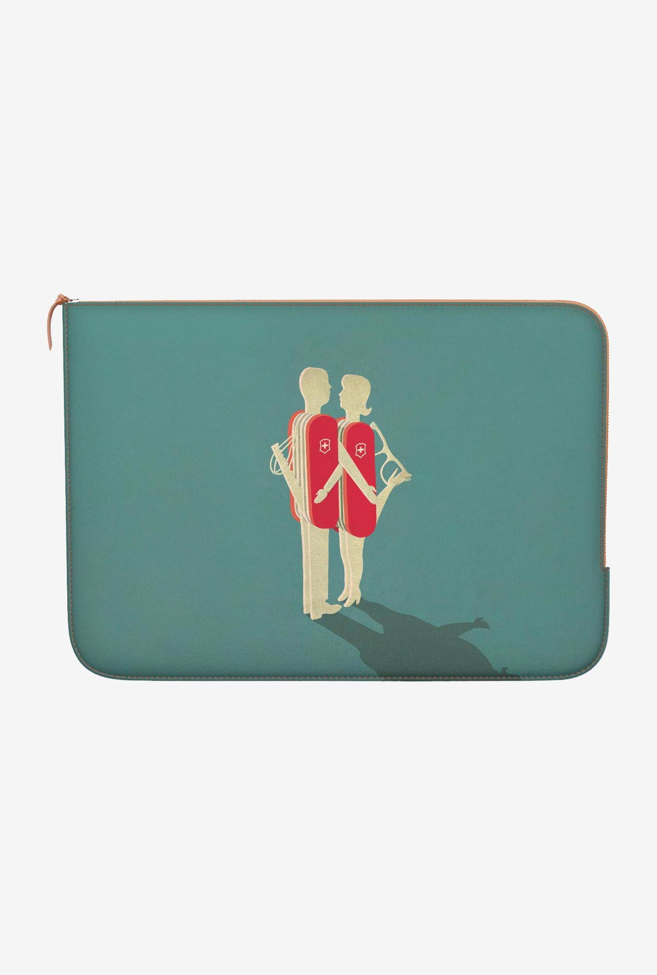 "DailyObjects Relationship Macbook Pro 15"" Zippered Sleeve"