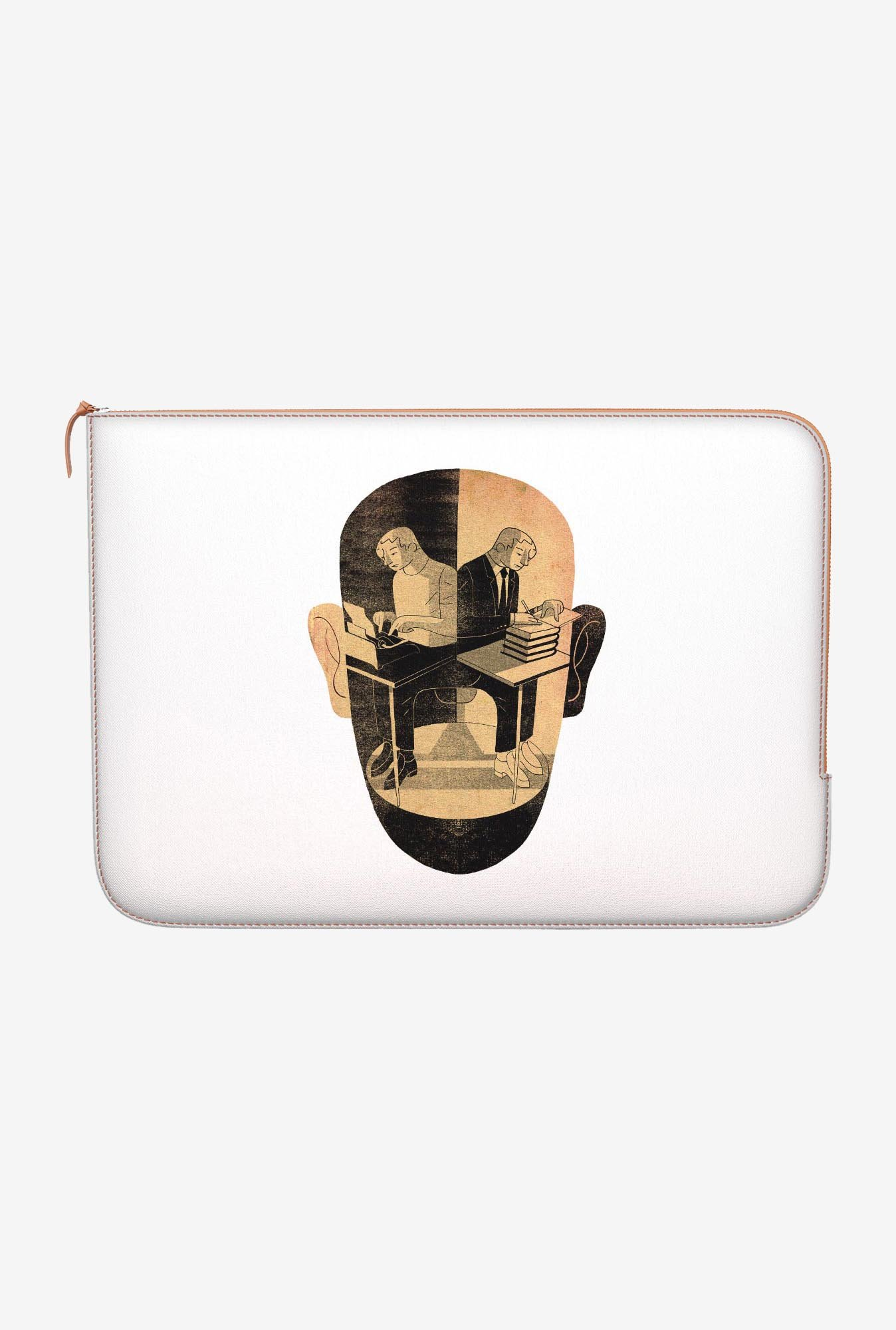 "DailyObjects Busy Mind Macbook Air 13"" Zippered Sleeve"