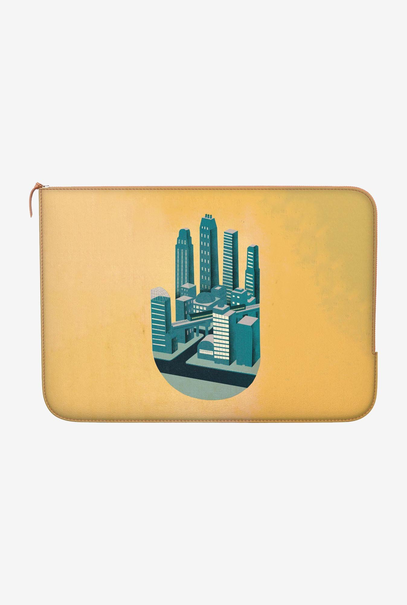 "DailyObjects Skyline Hand Macbook Air 11"" Zippered Sleeve"